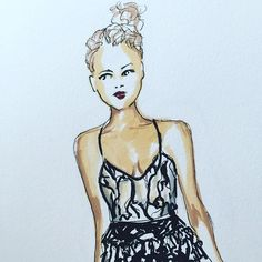 I lied, I can't stop with the #nyfw illustrations! @jasonwu