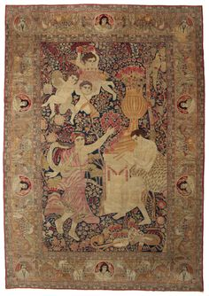 Kerman pictorial ANTA2 carpet from Persia / Iran - CarpetVista Collectible