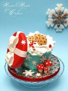 Tutorial Xmas box with cookies by Nana CakeDesign