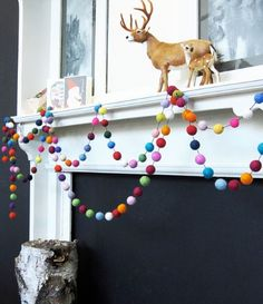 Felt Ball Garland- another kid friendly craft