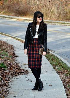 Zara A Plaid Skirt