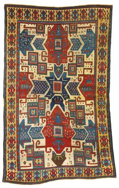 A Star Kazak rug, Southwest Caucasus approximately 7ft. 10in. by 5ft. (2.39 by 1.52m.) mid-19th century