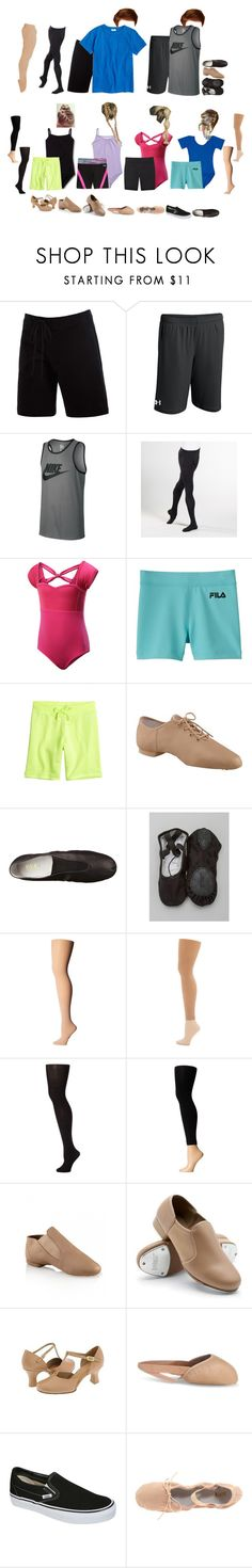 """Dance -Stones"" by our-poly-friends ❤ liked on Polyvore featuring Under Armour, NIKE, J.Crew, Bloch, Capezio, Fila, Capezio Dance, Commando, Plush and Vans"