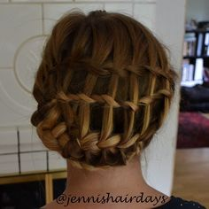 waterfall twist updo by Jenni's Hairdays Putoustwistikampaus