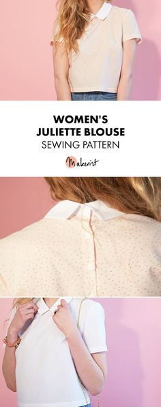 Women's Blouse - Juliette - Sewing Pattern via Makerist.com  #sewingwithmakerist #sew #sewing #sewkindofwonderful #sewingpattern #sewinginspiration #diy #handmade #homemade #sewingprojects #sewingtutorial #womensfashion #womenclothing