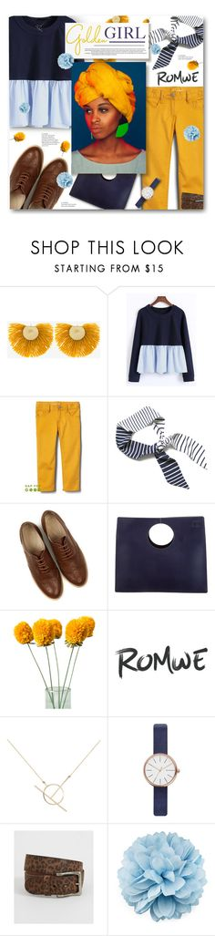 """""""sun in the sky, you know how i feel"""" by sierrrrrra ❤ liked on Polyvore featuring Katerina Makriyianni, Oasis, Loewe, A Weathered Penny, Skagen, Indie Spirit Designs, Gucci, navy, romwe and mustard"""