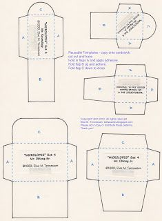Else's Bellas Artes: FREE Mini Envelope Templates for You :)  Download the PDF from the underlying post.