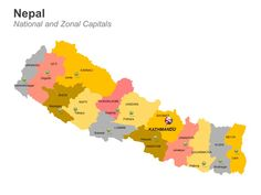 Editable PowerPoint Map: Nepal Map