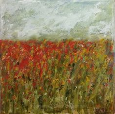 Original painting of a poppy field. Acrylic on canvas. Size of artwork approx. The canvas has D-rings on the back so is ready for hanging. Please note colours may vary slightly depending on screen settings. Poppies, Original Paintings, Colours, The Originals, Canvas, Artwork, Lisa, Handmade, Tela