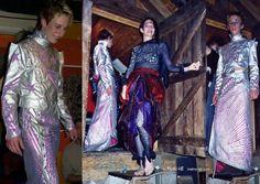 jasje & rok futuristische kleding man roze en par MatheHBcouture