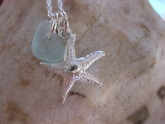 Sea glass necklace  sterling silver seaglass by SamiSeaglass