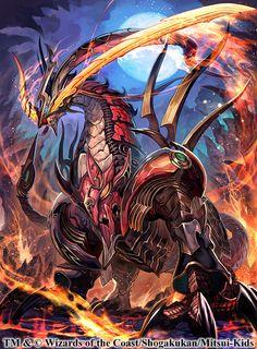 デュエルマスターズ最新弾「 ドラゴン・サーガ 拡張パック第1章 龍解ガイギンガ 」  http://dm.takaratomy.co.jp/index.html  にて制作させていただいた【熱血龍 リトルビッグホーン】です。  好きな部分は胸の第2の顔。