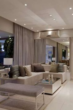Well lighted living room.