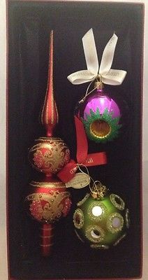 Waterford Holiday Heirlooms North Pole Collection Charisma Tree Topper Set 3 Pcs in Pottery & Glass, Glass, Glassware, Waterford | eBay