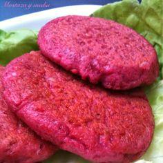 Mostaza y media: Hamburguesas de remolacha y sandwich rosa