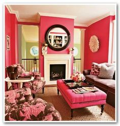 pink living room - not so sure my hubby to be would approve, lol