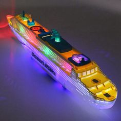 50cm Ocean Liner Ship Light Music Model Flashing Sound Electric Cruises Toys for Children Kids Boat Gift Automatic Steering