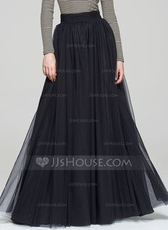 A-Line/Princess Floor-Length No 2016 Black Winter Spring Fall General Plus Tulle Cocktail Dress