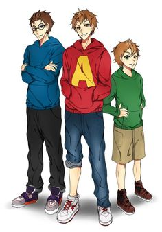 Chipmunks ver. Human by lazytime7.deviantart.com on @deviantART