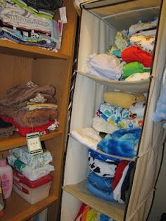 Cloth diaper organization system . . so far.