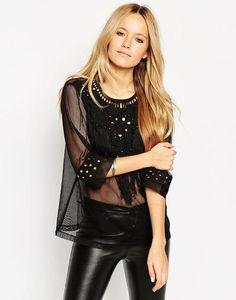 ASOS Top With Cut Work Embellishment at asos.com #top #women #covetme #fashion