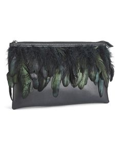 Dramatic Feather Clutch Bag, Simply Be Handbag Accessories, Fashion Accessories, Jewelry Accessories, My Bags, Purses And Bags, Types Of Purses, Boho Bags, Fabric Jewelry, Black Purses