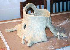 Filth Wizardry: DIY Pixie Hollow from aluminium foil and salt dough