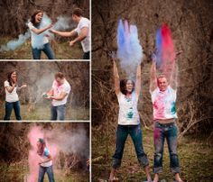 Holi Powder Engagement Session Jason+Gina Wedding Photographers http://www.jason-gina.com