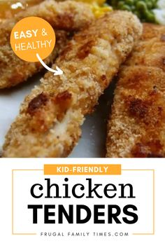 Easy, healthy, kid-approved chicken finger recipe. This is a simple meal that kids will love! These chicken tenders can be made quickly on a weeknight - and freezes really well to make ahead.