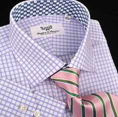 Purple Shepherd Twill Plaids & Checks Formal Business Dress Shirt B2B Blue Sale   eBay