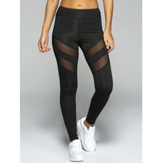 See-Through Tight Sport Running Leggings - Black Xl Mesh Leggings, Running Leggings, Sports Leggings, Black Leggings, Leggings Are Not Pants, Leggings Shoes, Athletic Outfits, Athletic Wear, Athletic Pants