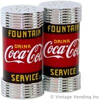 Retro Coke ~ Salt & Pepper Shakers @ www.retroplanet.com