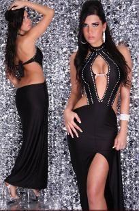 Glamorous Evening Dress With Rhinestones