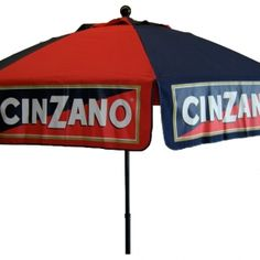 Amazing 9 Ft Cinzano Logo Patio Umbrella. Only $196.00 FREE Shipping.  #PatioUmbrellas #umbrellas