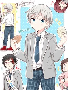 Girl Bands, Neko, Kawaii Anime, Anime Guys, Bangs, Anime Art, Icons, Fan Art, My Favorite Things
