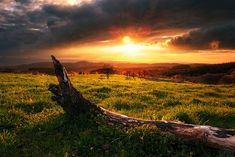 Landscape, photo HD intoxicating dawn sun.