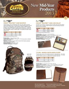 New Mid-Year Products from Canyon Outback Leather!