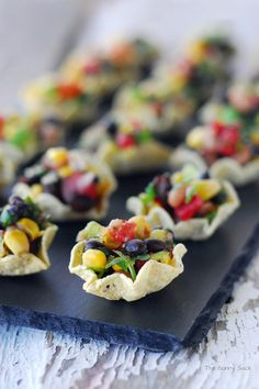 Cowboy Caviar Cups ~ An Easy Appetizer Recipe