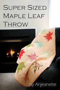 Super-Sized Maple Leaf Throw Quilt ~ Moda Bake Shop