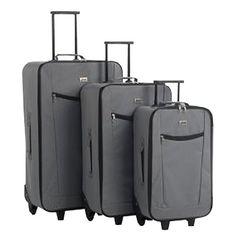 Kofferset trolley 3 delig grijs Penn