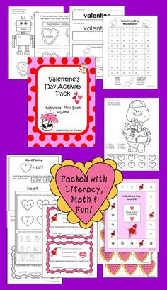 A 30 page Valentine's Day activity pack full of morning work sheets,language and math pages, word family worksheets, a wordsearch and a board game! A sample page is included in the preview!