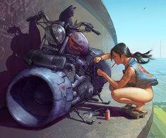ArtStation - Skybike Witch, 2nd angle, Steven Stahlberg