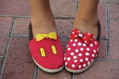 Mickey and Minnie Toms and shoes by SumWishfulThinking on Etsy, $40.00