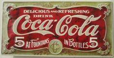 Tin, enamel, vintage sign