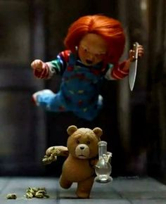 We like cannabis as you do :) We are proudly bringing you newest and most popular products infront of your door. Que Horror, Funny Horror, Horror Art, Scary Funny, Hilarious, Horror Movie Characters, Horror Movies, Chucky Movies, Bride Of Chucky