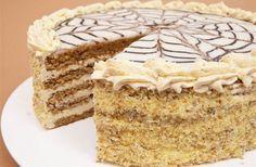 Receptbázis - Eszterházy torta - 6 x 2 db x dkg x… Hungarian Desserts, Hungarian Cake, Hungarian Cuisine, Hungarian Recipes, Esterhazy Torte, Pastry School, Easy Sweets, Torte Cake, Cakes And More