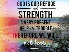 never fear. Psalm 46:1-2