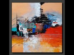 Acrylic Abstract painting in just 7 minutes #Real time Speed painting Demo - YouTube