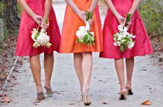 Pink-+-Orange-Wedding