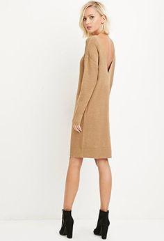 V-Back Sweater Dress   Forever 21 - 2000140536